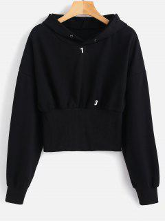 Figure Graphic Hoodie - Black L
