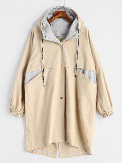 Hooded Long Coat - Light Khaki