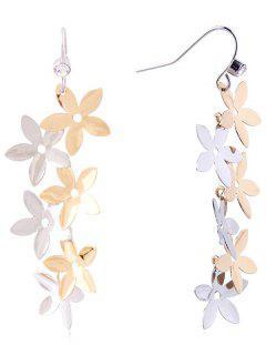 Dangling Floral Hook Earrings - Multi
