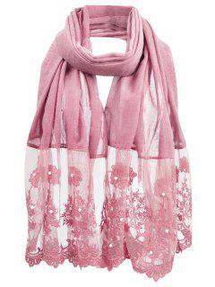 Bufanda Larga De La Bufanda Floral Del Color Sólido - Rosa