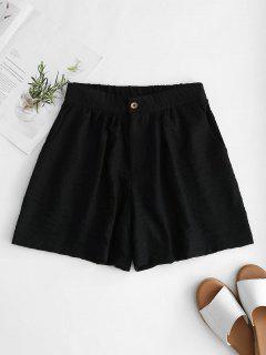 Pantalones Cortos De Pierna Ancha De Talle Alto - Negro M