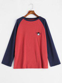 Embroidery Baseball T-shirt - Multi