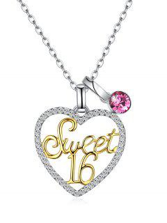 Collier Sweet 16 Love Collarbone - Or