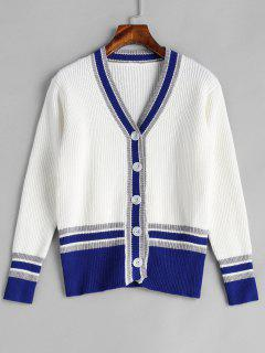 Button Up Cricket Cardigan - White