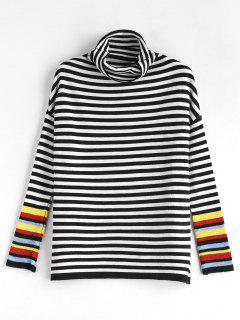 Turtleneck Striped Sweater - Multi