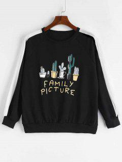 Family Picture Cactus Sweatshirt - Black