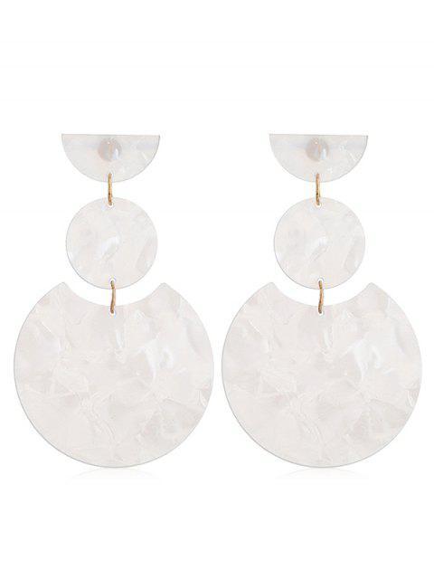 Runde Design einfache Tropfen Ohrringe - Weiß  Mobile