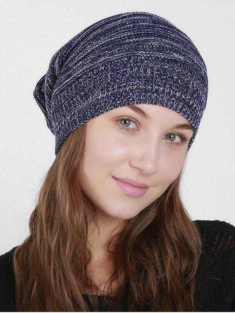 lady Colormix Knitted Slouchy Beanie - CADETBLUE  Mobile