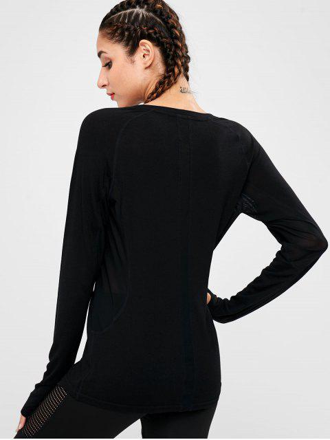 Armloch Mesh Panel T-Shirt - Schwarz S Mobile