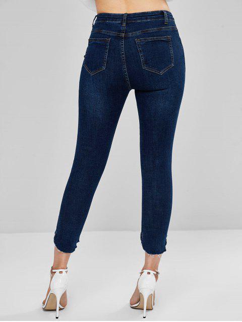 Jeans skinny sin mangas y lavado oscuro - Azul Oscuro de Denim XL Mobile