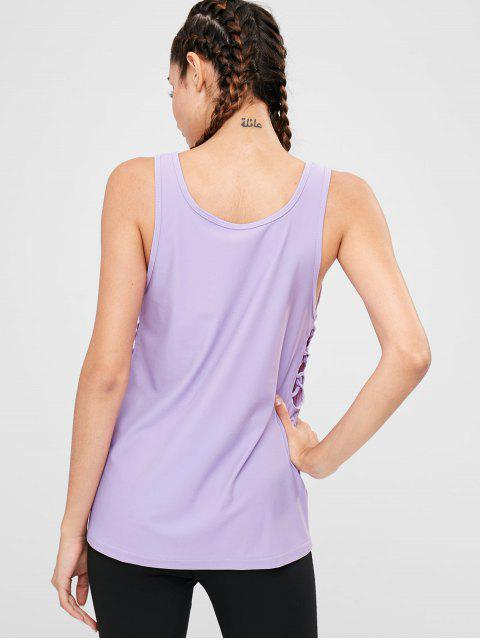 Gitter Side Sports Tank Top - Mauve M Mobile