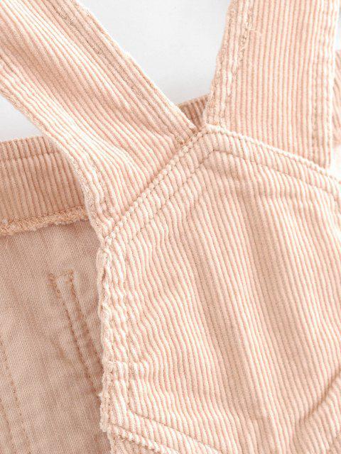 affordable Mini Pinafore Dress - LIGHT PINK S Mobile