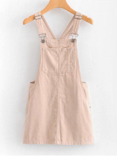 Vestido Mini Pinafore - Rosa Claro L Mobile