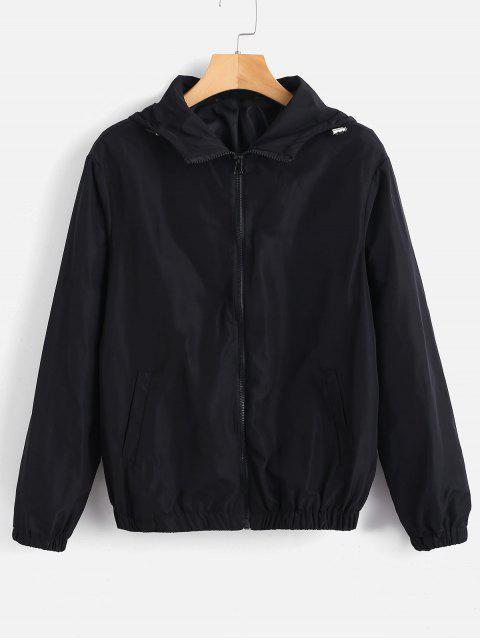 Chaqueta con capucha y cremallera - Negro S Mobile