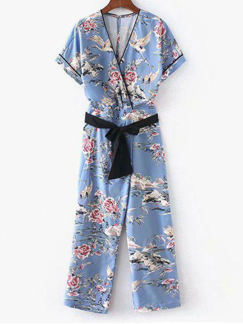 Floral Surplice Overall - Baby Blau S Mobile