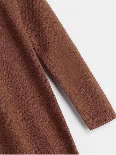 Robe Pull Ras-du-Cou Bouclée - Brun Taille Unique Mobile