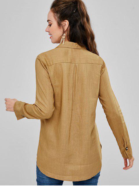 Bolsillos delanteros camisa novio - Amarilla de Abeja  L Mobile