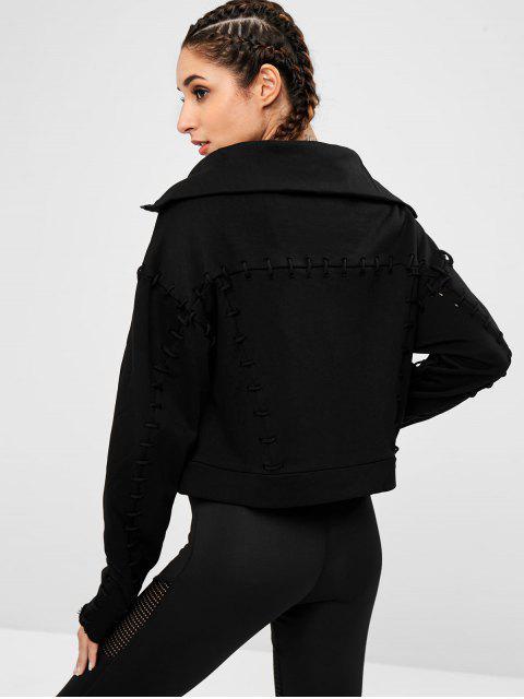 Chaqueta con hombros descubiertos con cordones - Negro S Mobile