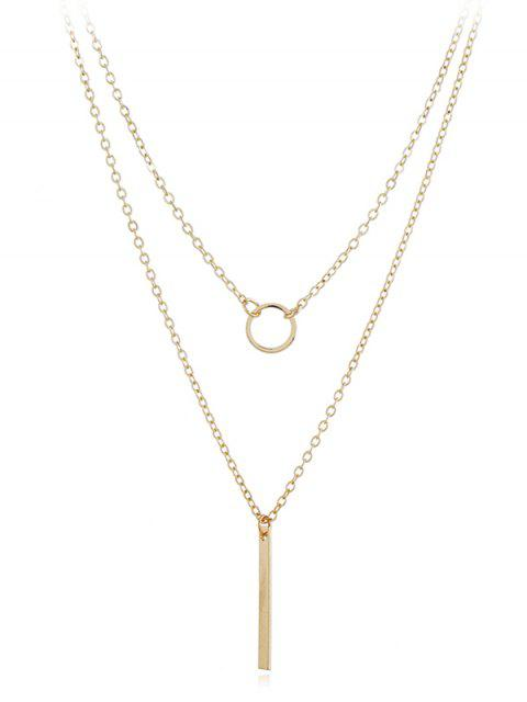 affordable Geometric Shape Layer Pendant Necklace - GOLD  Mobile