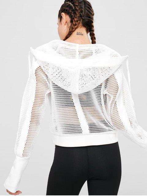 Chaqueta con capucha y malla - Blanco L Mobile