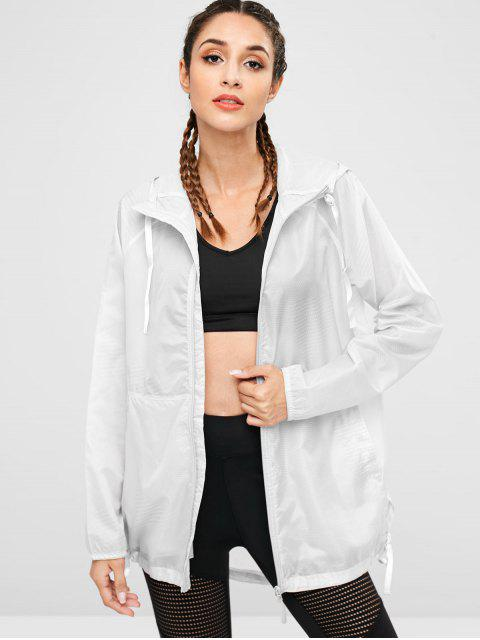 best Hooded Windbreaker Jacket - PLATINUM M Mobile