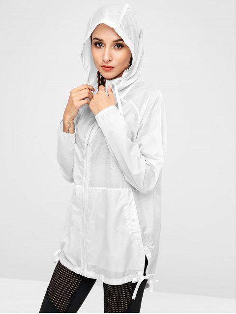 womens Hooded Windbreaker Jacket - PLATINUM S Mobile