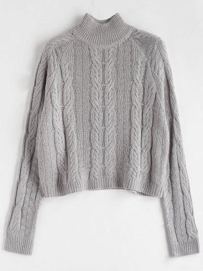 2019 Gray Cable Knit Sweater Online  06b1958ae