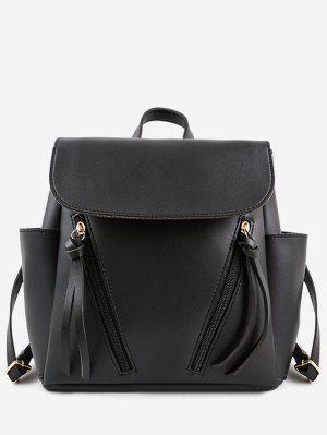 Zip Seitentaschen Schulrucksack