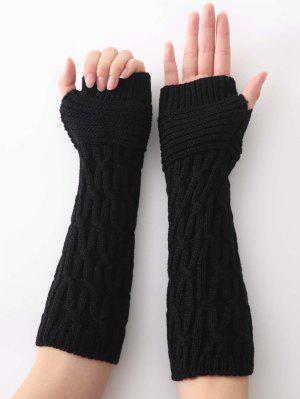 Winter unregelmäßige gestreifte Strickhandschuhe