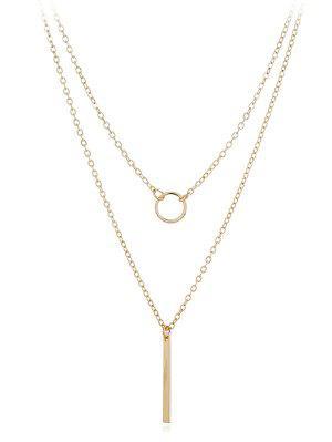 zaful Geometric Shape Layer Pendant Necklace
