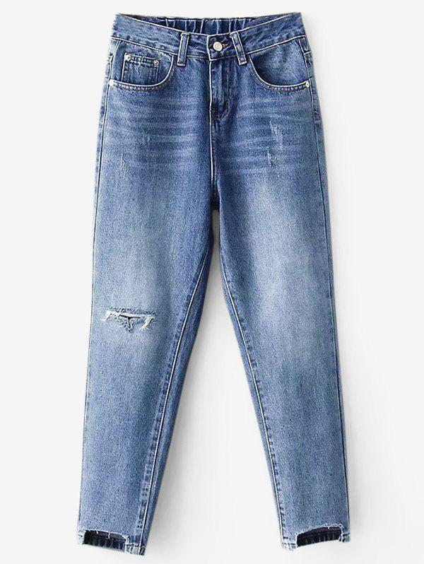 High Waisted Distressed Mom Jeans 280126302