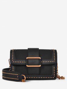بوكلي برشام حقيبة كروسبودي - أسود