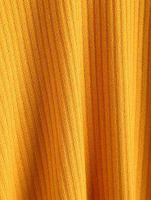 Twist Front Skater Amarillo Cami Vestido S Knit qC4frFq