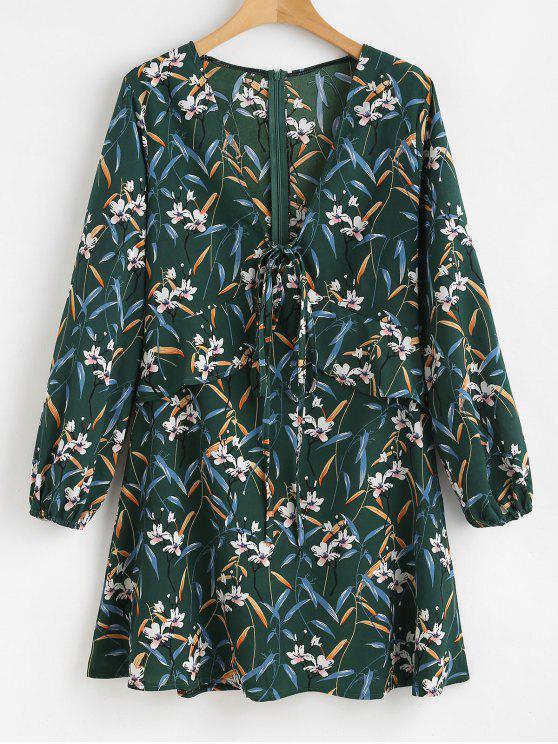 زهرة اغراق الكشكشة اللباس - متوسطة البحر الخضراء S
