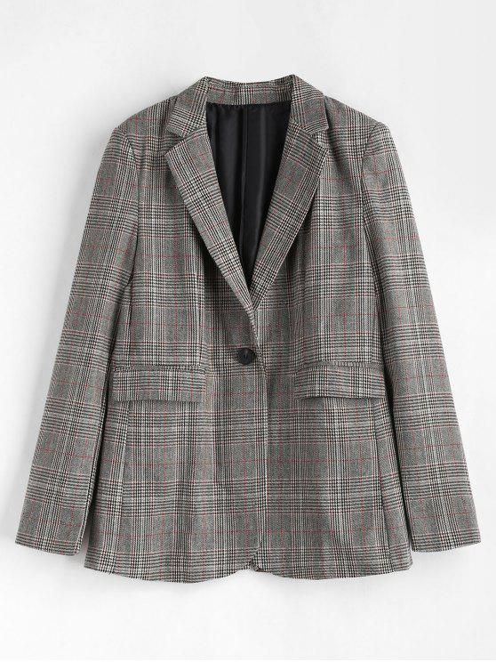 Blazer à poches à carreaux à carreaux - Multi L