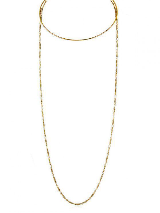 Einfache Schicht Kette Halskette - Gold