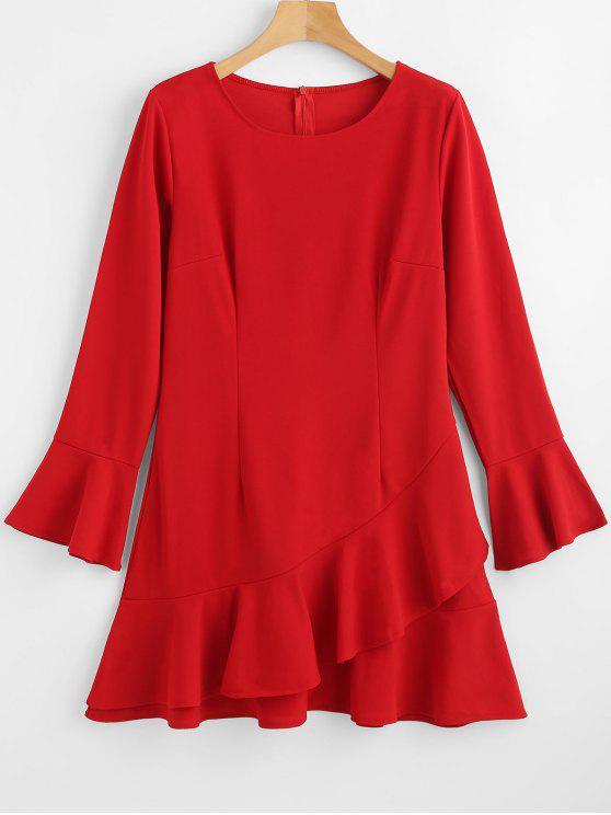 انتفض اللباس التحول - أحمر S