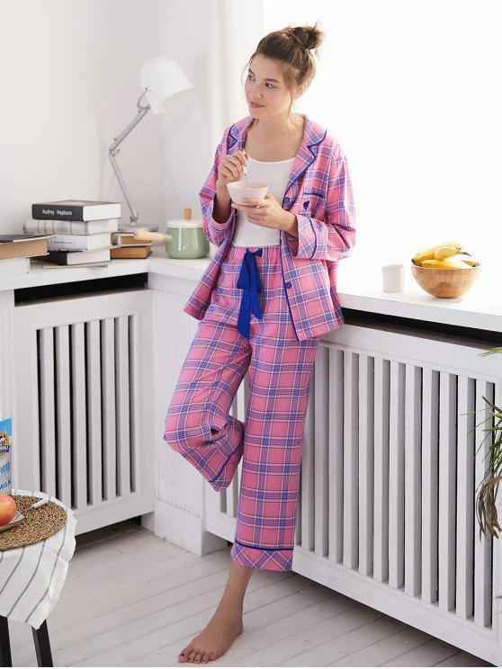 Langarm-Pyjama-Set - Rosa XL