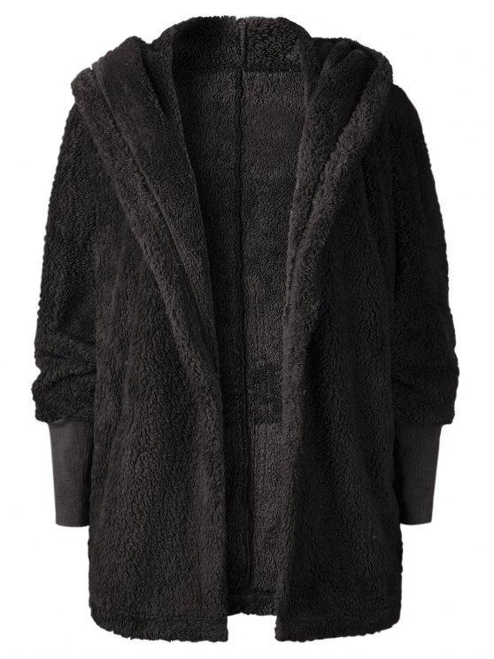 Cappotto Plus Size Aperto Sul Davanti - Nero S