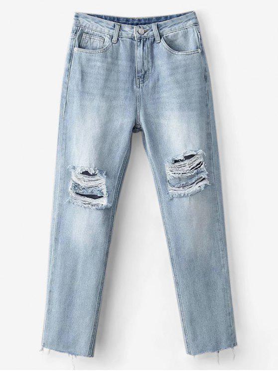 لايت سكل بايبريسد بوي فريند جينز - ازرق XL