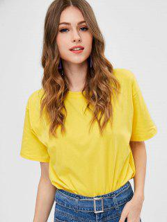 Loose Plain Tee - Yellow