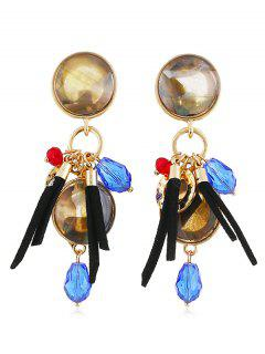 Boucles D'oreilles En Forme De Cristal Artificiel - Or