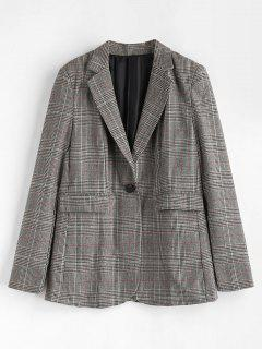 Plaid Flap Pockets Blazer - Multi M