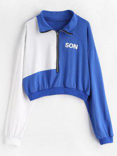 Zipped Two Tone Sweatshirt - Multi