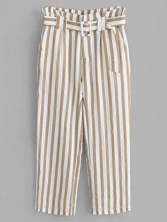 Ruffles Striped Pants - Multi S