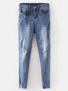 Ripped Jeans - Blue L