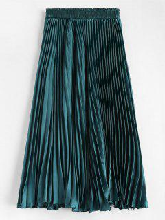 Maxi Pleated Skirt - Greenish Blue