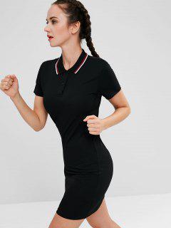 ZAFUL Polo Collar Mini Athletic Dress - Black S