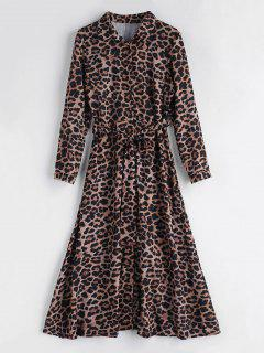 Leopard Belted Maxi Dress - Leopard L