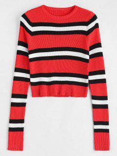 Ribbed Striped Sweater - Multi M
